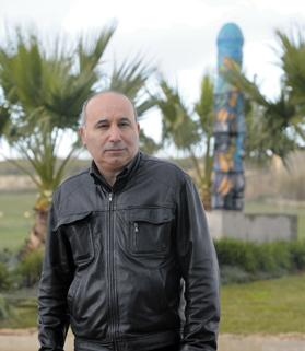 Sculptor Paul Vella Critien, the man behind the Luqa column. Photo: Matthew Mirabelli