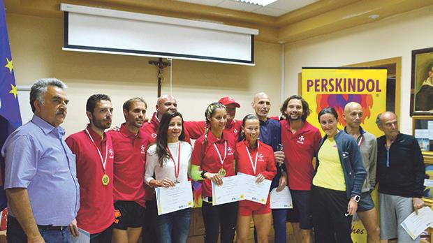 Perskindol Mountain running team with Francesca Arrigo