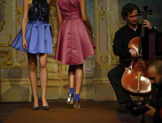 Models present creations by Rebelli during the Pink Fashion Show at the Manoel Theatre in Valletta on November 15. Photo: Darrin Zammit Lupi