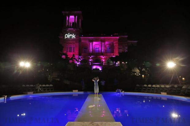 Preparations are made for the Pink Fashion Show at Villa Rosa in St Julian's on May 25. Photo: Darrin Zammit Lupi
