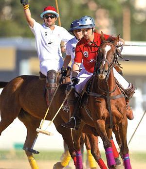 Malta Polo Club President Karl Galea (front). <br />Photo: Paul Zammit Cutajar