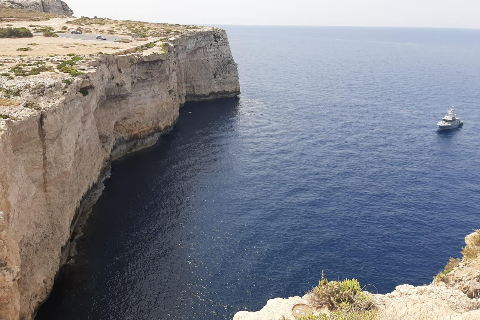 The weapons were buried at sea off the cliffs on Malta's northwestern coast. Photo: Jonathan Borg