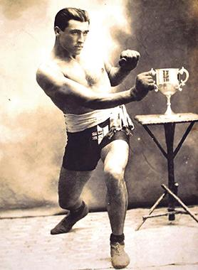 Portrait of Paolo Cauchi, the first Maltese boxing champion. Most professional and amateur boxing tournaments were held in the Britannia Circus in Floriana.