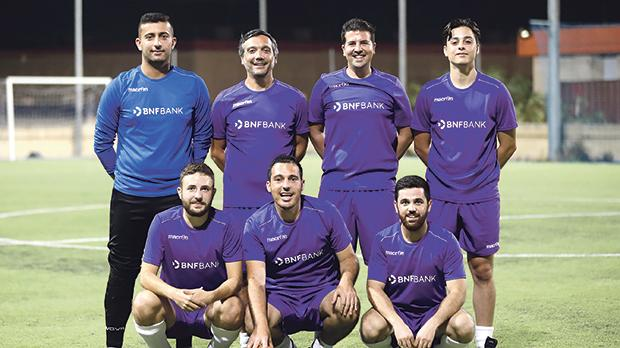 The BNF Bank football team