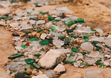 Watch: Activists need help to get a beach over its broken glass hangover