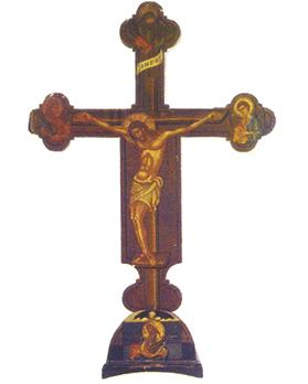 Painted crucifix from the Lamentationfor Christ retable.