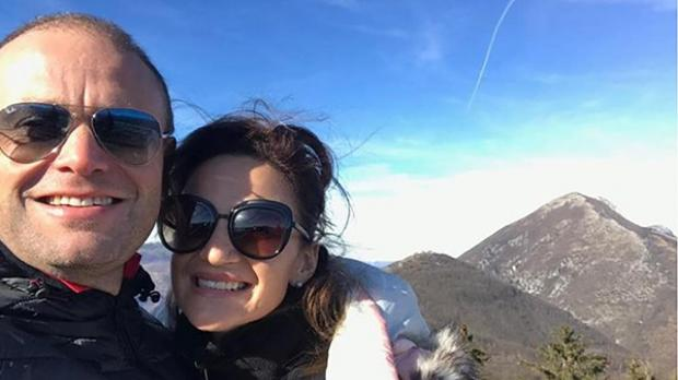 Joseph and Michelle Muscat on holiday.