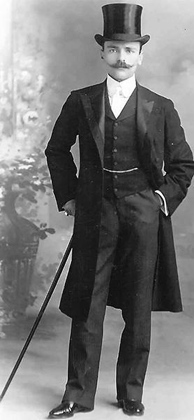 Portrait of the Godwin H. Galizia, the architect of the beautiful second Britannia Circus in Floriana. Courtesy of Professor Mary Darmanin.