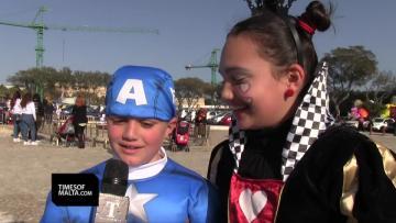 Watch: Superheroes, clowns take over Valletta