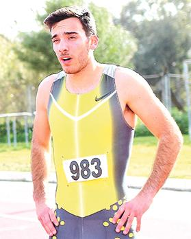 Daniel Saliba… excellent results in 400m hurdles. Photo: Wally Galea