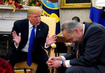 Trump, top Democrats clash on border wall in rare public Oval Office fight