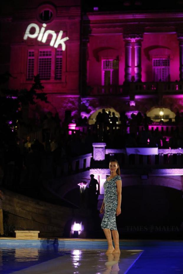 A model presents an M&Co creation during the sixth edition of the Pink Fashion Show at Villa Rosa in St Julian's on May 26. Photo: Darrin Zammit Lupi
