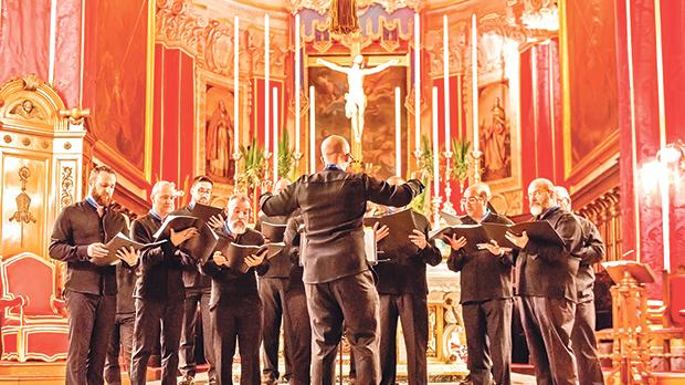 The choristers during Passio, a Holy Week concert held at the Victoria Cathedral. Photo: Daniel Cilia
