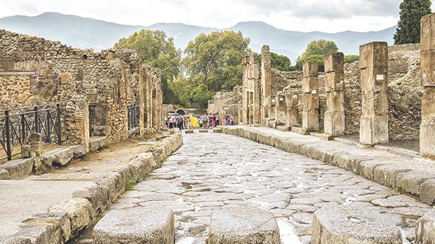 The ancient Roman city of Pompeii, which was ruined by the eruption of Mount Vesuvius in AD79. Photos: Shutterstock