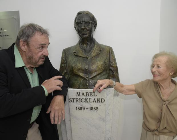 British actor John Rhys Davies, best known as Gimli in the Lord of the Rings series, visited the Times of Malta offices on April 6 with Diana Mackintosh (née Tonna), who worked at the newspaper during World War II. PHOTO: MARK ZAMMIT CORDINA.
