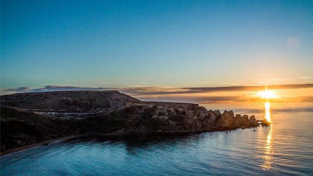 Spectacular sunset over Għajn Tuffieħa. Photo: Jean Paul Gauci