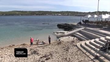 Balluta Bay to be replenished with sand every year  | Video: Matthew Mirabelli