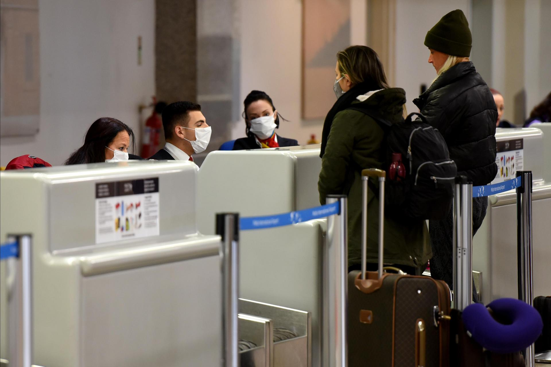 Sometimes authorities have to check passengers on a flight, if one of them subsequently tests positive for coronavirus. Photo: Chris Sant Fournier