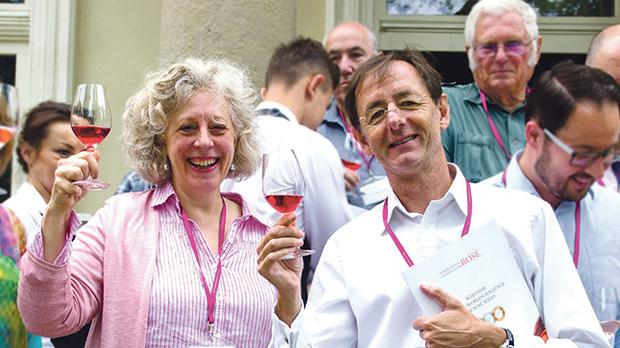 Elizabeth Gabay MW and Georges Meekers, judges at the International Rosé Championship, Poland.