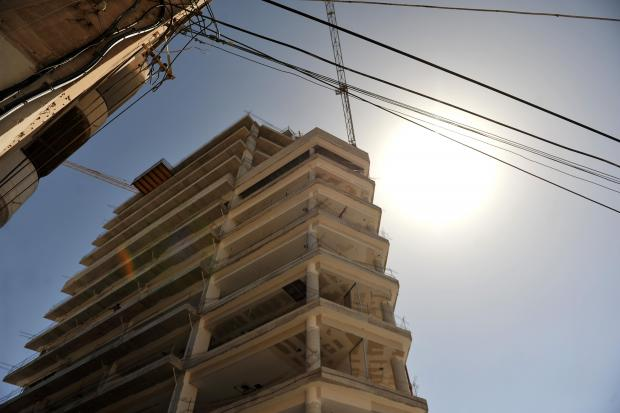 A high-rise office block under construction in Gzira on July 11. Photo: Chris Sant Fournier
