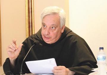 Seen here is Fr Luca di Girolamo addressing participants.