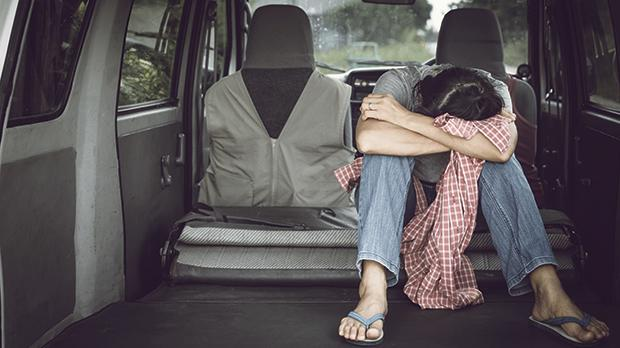 A young mother had ended up sleeping in her car with her two children and pet dog. Photo: Shutterstock