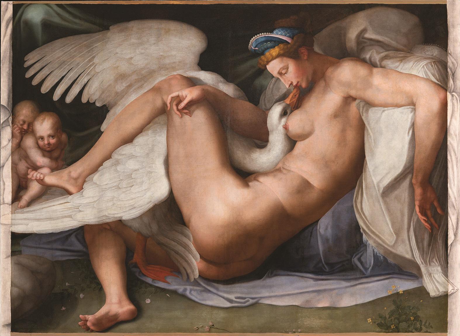 Leda and the Swan by Michelangelo Buonarotti