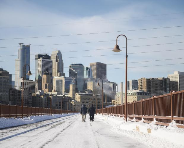 In Minneapolis, people were allowed to stay on buses and trains for warmth.