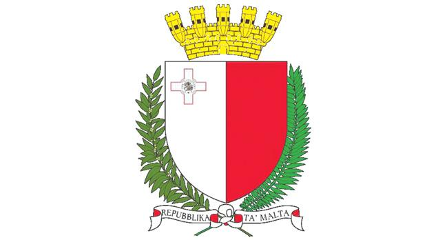 The 1988 coat of arms of Malta.