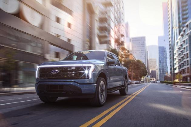The Ford F-150 Lightning is an electric pick-up that can power your home