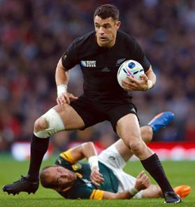 Dan Carter in action for the All Blacks.