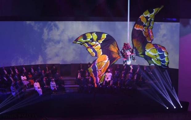 Artists perform during the opening ceremony of the Commonwealth Heads of Government Meeting (CHOGM) in Valletta on November 27. Photo: Darrin Zammit Lupi