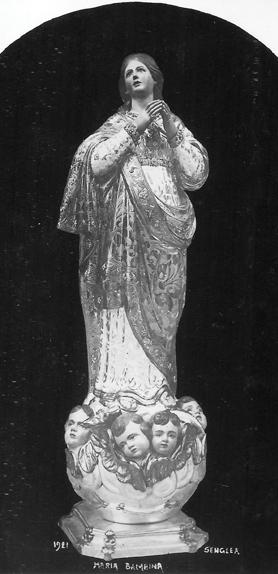 The statue before its solemn crowning.