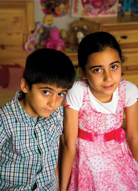 Nine-year-old Stera and her six-year-old brother, Mohammed, were born stateless on the island to Syrian Kurdish parents. They have become the poster children for the UNHCR's report on statelessness in Malta. Photo: Darrin Zammit Lupi