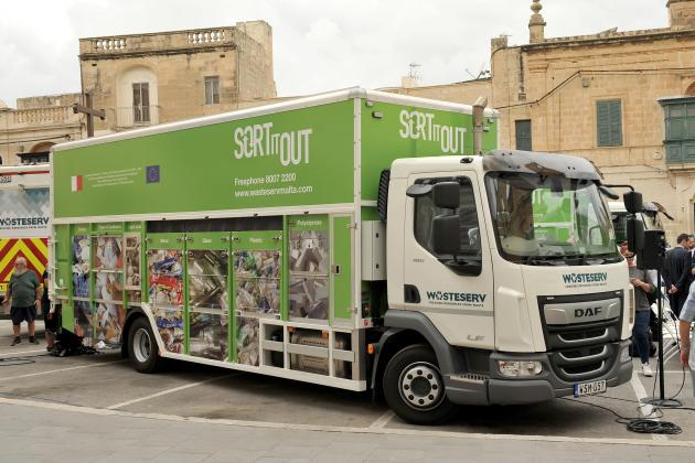 Special trucks to collect broken lightbulbs and other 'hazardous' waste