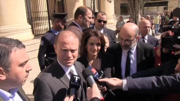 Watch: Joseph Muscat, wife testify to clear names 'from the dirt'