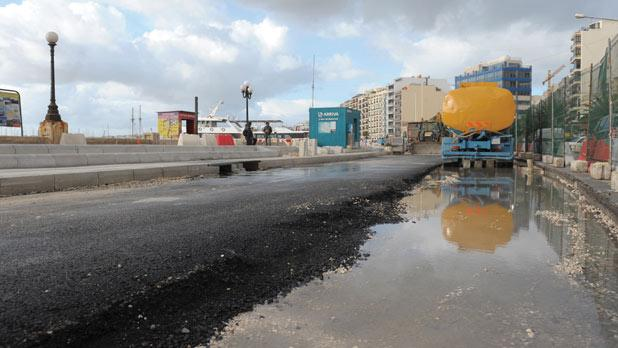 Transport Malta has spent more than €950,000 to upgrade the promenade and roads at the Sliema Ferries Photo: Matthew Mirabelli