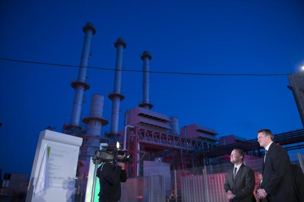 Prime Minister Joseph Muscat and Tourism Minister Konrad Mizzi during the April 2017 inauguration of the new power station