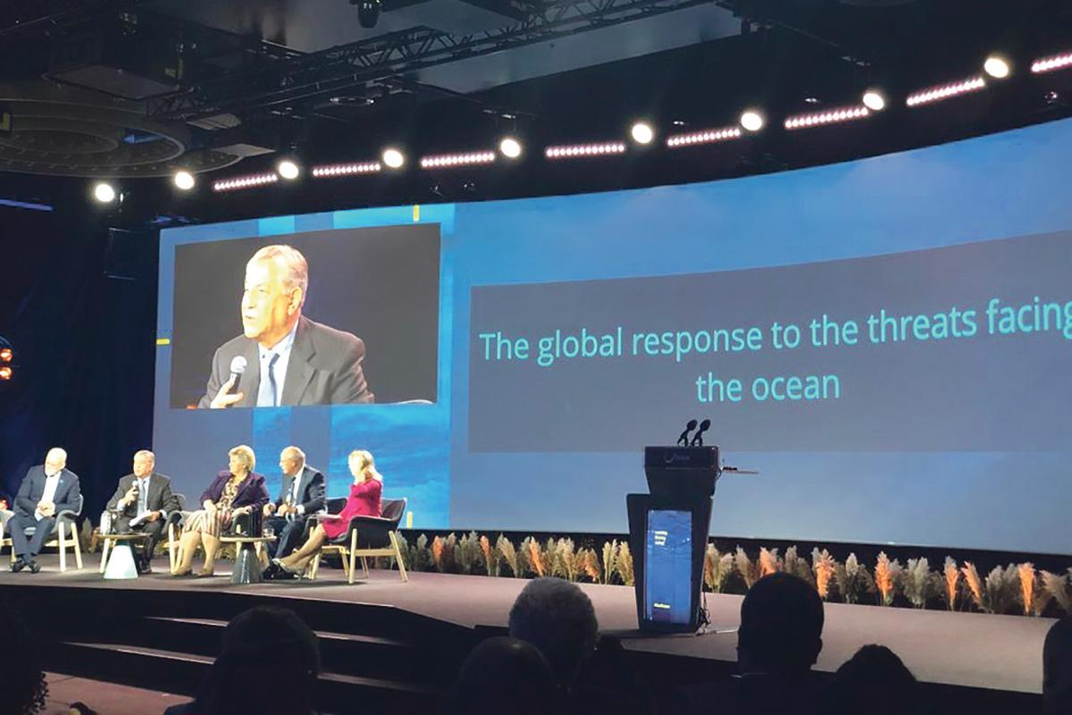 EUCommissioner Karmenu Vella addressing the Our Ocean conference in Oslo, Norway.