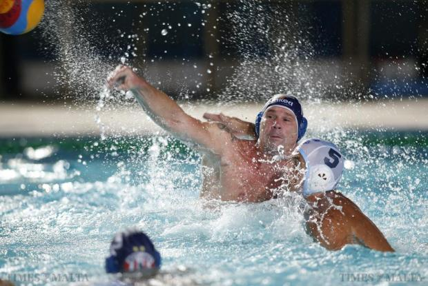 Neptunes' Peter Biros attempts a shot on goal during their Premier Division waterpolo match against Sliema at the National Pool in Tal-Qroqq on August 26. Neptunes 12-10 defeat meant their five-year reign as Malta champions came to an end, with the league title handed to San Giljan in absentia. Photo: Darrin Zammit Lupi