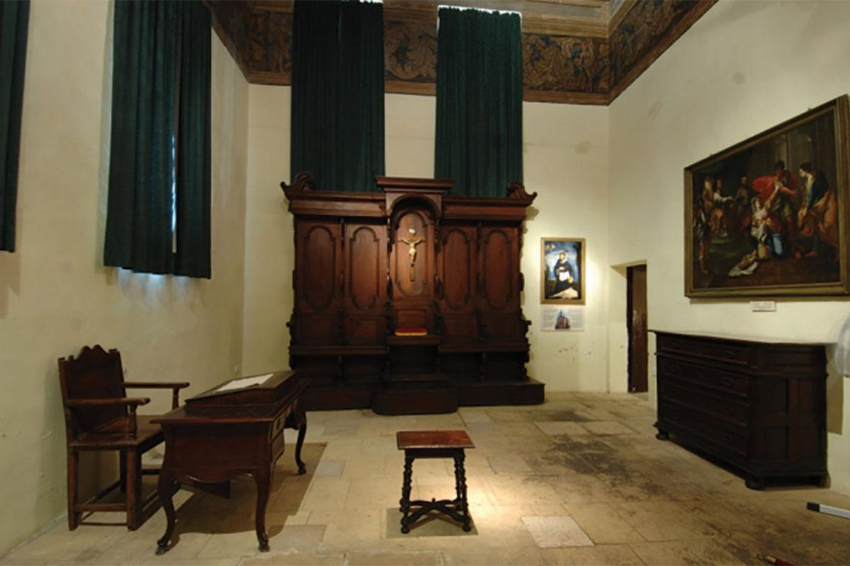 The court room in the Inquisitors' Palace. Photo: Courtesy of Heritage Malta