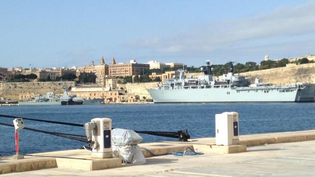 The HMS Bulwark is back in Grand Harbour. Photo: Kurt Sansone