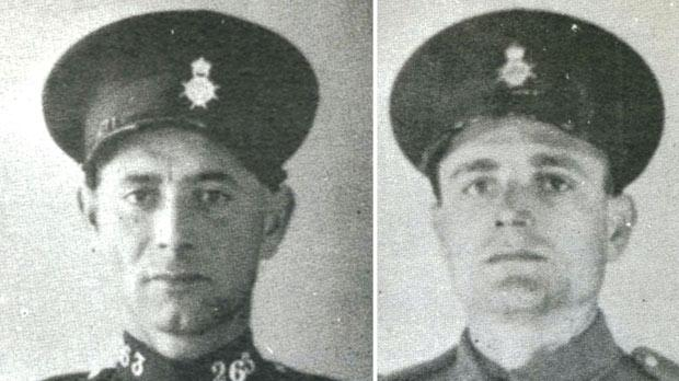 Two of the victims – PC Mikiel Azzopardi (left) and PC Karmnu Spiteri.