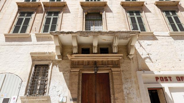 Casa Scappi at 74, Old Bakery Street, Valletta, where Scappi lived. Up to recently it housed the Johann Strauss School of Music. Photo: Darrin Zammit Lupi