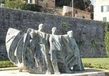 The national resistance monument in Corfu town