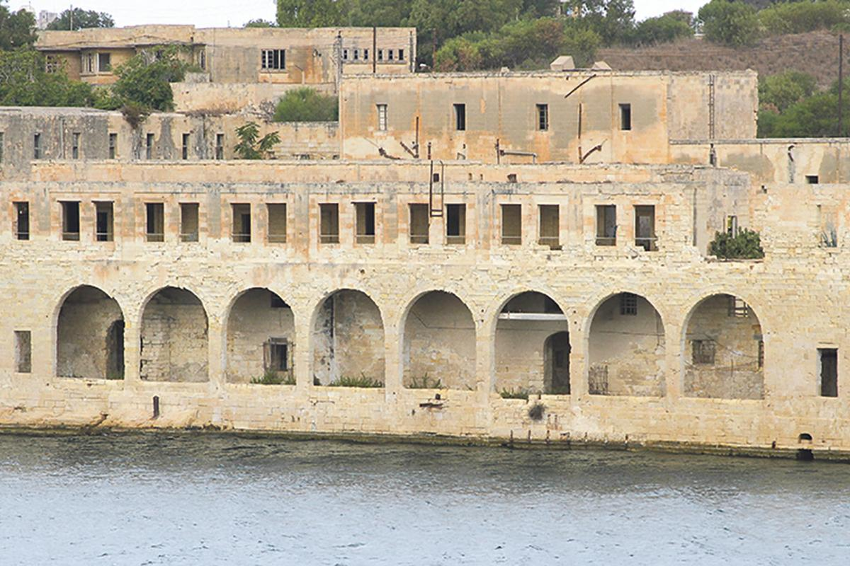 The former submarine base on Manoel Island, barely changed today.