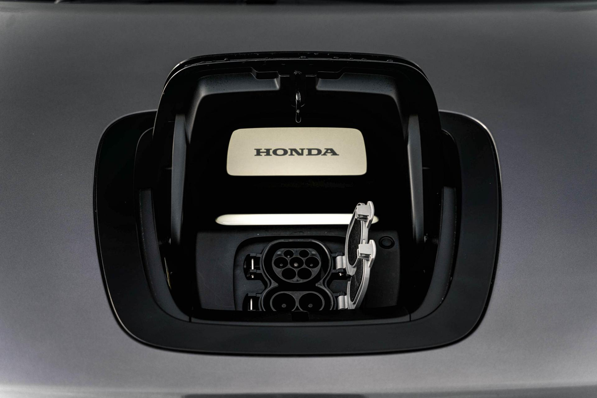 Charging is via a port at the very front of the car.
