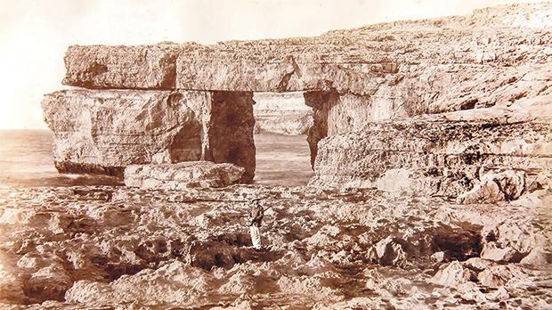 Dated 1879, this photo of the Azure Window was taken by photographer Richard Ellis. Photos provided by Daniel Cilia