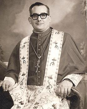 Canon John Sladden as archpriest of Senglea collegiate church.