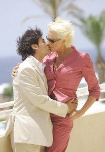 Truly, madly, deeply... Brigitte Nielsen will be tying the knot with 28-year-old Italian bartender Mattia Dessi today at a star-studded ceremony at the Radisson SAS Golden Sands Resort, Golden Bay. Photo: Matthew Mirabelli